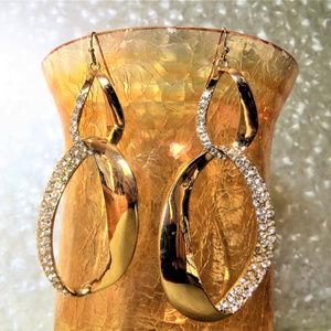 big dangle pierced hoops statement glam bold bling